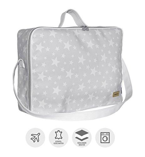 Imagen para Cambrass Etoile - Bolso maternidad maleta para clínica, 12 x 47 x 36 cm, color gris