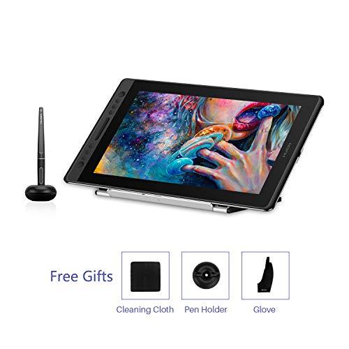 HUION Kamvas Pro 16 Grafiktablett - IPS 1920 x 1080 Blendfreies Grafiktablett 8192 mit 15,6 Zoll und neuestem batterielosen Digitalstift PW507 (2019 aktualisiert)