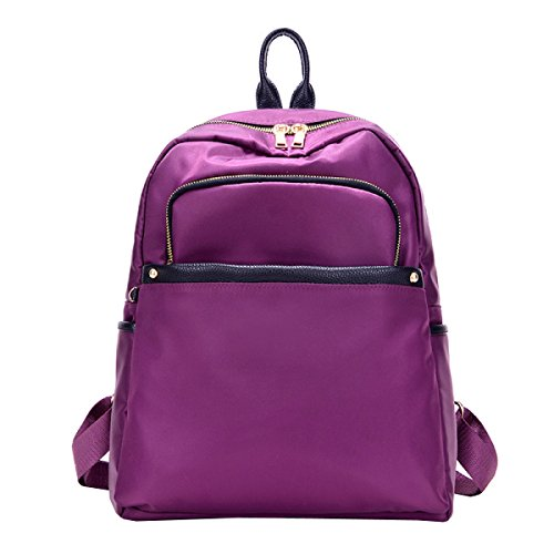 Zaino Borse Moda Borsa In Nylon Oxford Selvaggia Tela Zainetto Purple