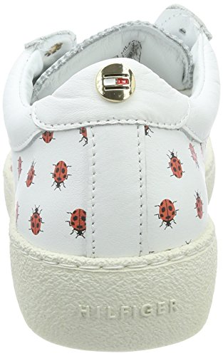 Tommy Hilfiger Lo S1285uzie 12a, Sneakers Basses Femme Blanc (White)