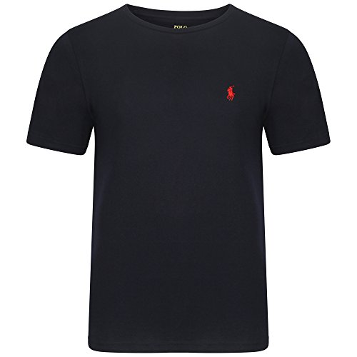 Ralph Lauren da uomo girocollo T-Shirt maniche corte Small Pony S/M/L/XL/nero, blu, grigio, bianco - Factory secondi Navy Large