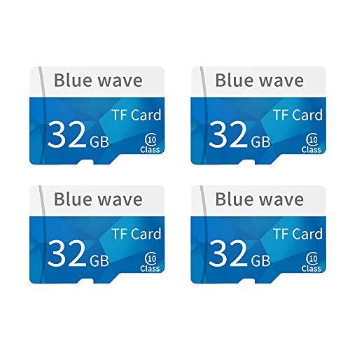 Docooler [4 STÜCK] Speicherkarte Große Kapazität Klasse 10 TF Karte Flash TF Karte 32G Datum Speicher High Speed für Smartphone (2 64 Gb Micro Sd-karte)