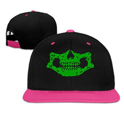 Osmykqe Green Skeleton Low Profile Baseball Caps Einstellbare Mütze - Sonnenschutz Green Low Profile Cap
