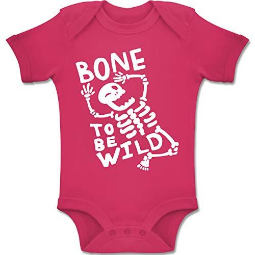 Anlässe Baby - Bone to me Wild Halloween Kostüm - 1-3 Monate - Fuchsia - BZ10 - Baby Body Kurzarm Jungen Mädchen