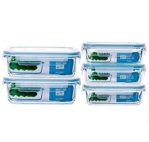 Fünf Sätze des Glases Crisper Ofen-Mikrowellen-Kühlraum verwendbar für