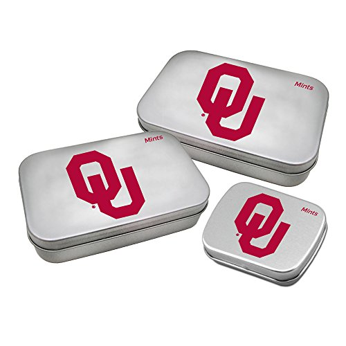 Worthy Promotional NCAA Oklahoma Sooners Decorative Mint Tin 3-Pack with Sugar-Free Mini Peppermint Candies