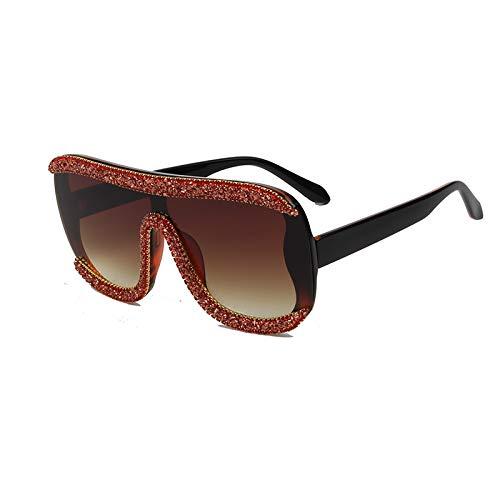 LKVNHP Luxury übergroßen Sonnenbrille Frauen Vintage Retro gradienten Brille Bling Stones männer Sonnenbrille oculosrot
