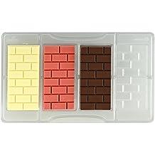 Decora molde Ladrillos tableta de chocolate, de policarbonato, transparente