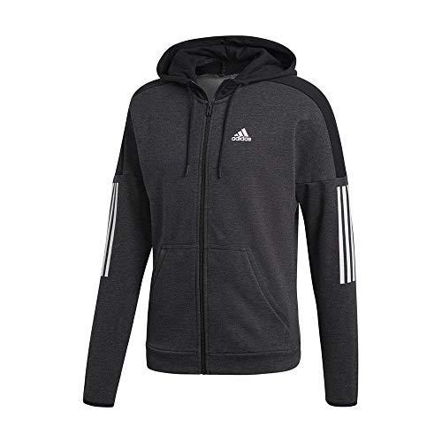 adidas Herren Sports ID Logo Full Zip French Terry Kapuzen-Sweatshirt Melange/Black, L Preisvergleich