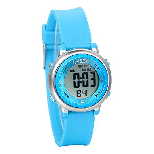 Avaner Reloj Para Niños Digital Reloj Deportivo Digital Para Aire Libre, Azul Reloj Infantil De Colores, Reloj Pequeño 5ATM A Prueba de Agua, Buen Regalo