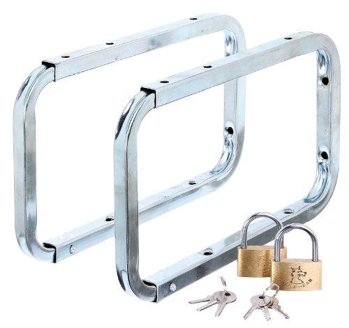 Abschließbare Wandhalterung (GAH-Alberts 802622 Leiterhaken, abschließbar, 216 x 138 mm, 2 Stück im Set)