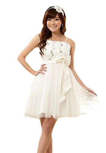 PLAER femmes robe toast de mariage robe soirée de fête robe Sexy cocktail robe Blanc