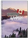 Carnet de voyage le Canada soi-même écrire/Carnet A5Classeur avec 120pages/packliste, Citations de Plan de voyage Fun Facts, Voyage de Challenges...–de Sophies Carte Monde
