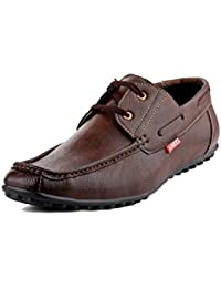 Zebra Europian Men's Synthetic Leather Derby Shoes