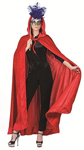 Maskenball Kostüme (Venezianischer Umhang mit Kapuze Rot - Schön zu Venedig, Maskenball und Mittelalter)
