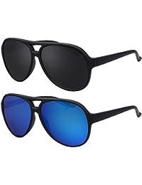 Original La Optica Unisex Piloten Sonnenbrille im Aviator Stil mit UV400 Schutz - Verschiedene Farben und Sets (Silber (Gläser: Grau)) CvIGVo