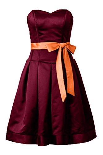 TOSKANA BRAUT - Robe - Trapèze - Femme Rouge bordeaux