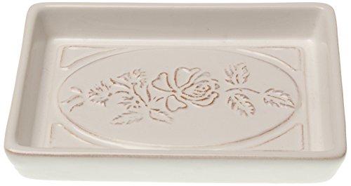 KOM Amsterdam 6697 Seifeschale Keramik, 12 x 8 x 2 cm, rose weiß
