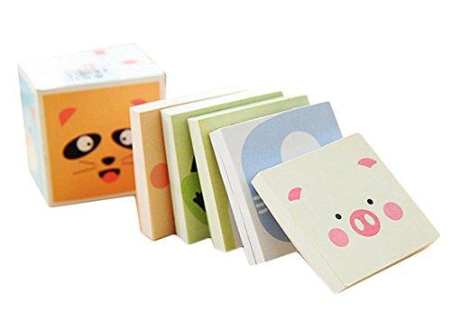 5x Toruiwa Notepad Cartoon animali modello Notetaking Tab memo Pad Message Pad segnapagina mini week Plan notebook cancelleria ufficio scuola forniture colore casuale 4.8 * 4.8 * 0.8cm