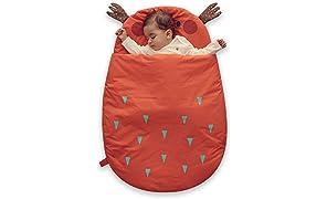 Bebamour Anti Kick Saco de dormir para bebés Noches seguras Saco de dormir de algodón para bebés 2.5 Tog Lindo saco de dormir para bebés y niñas Manta para bebés (Light Purple/50-85cm/0-18 meses+)