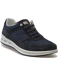 Grisport Scarpe da Uomo Primavera Sneakers Tessuto Tela camoscio Casual  Active 43041V48 Blu 56f5537a183