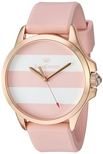 Juicy Couture Women's Analog Quartz Watch with Silicone Strap 1901486