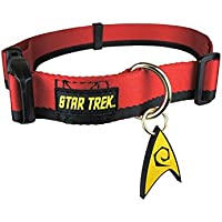The Coop Star Trek Red Uniform Dog Collar, small