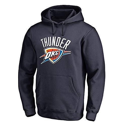 RTMJUNMA Männer Damen Basketball Hoodie NBA Oklahoma City Thunder Basketball Lose Jersey Komfortable Langarm T-Shirt