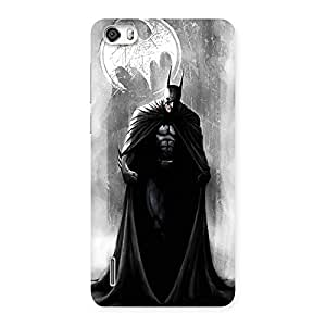 White Moon Knight Multicolor Back Case Cover for Honor 6