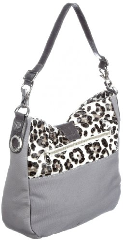 Poodlebags Funkyline - natural wild - Friday - 3FU0212FRIDW, Borsa donna, 30 x 9 x 26 cm (L x A x P) Bianco (Weiss (white))