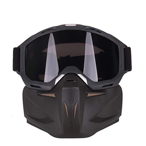 Adisaer Sonnenbrille In Sehstärke Motorrad Schutzbrillen Maskieren Retro Rennsport Schutzbrillen Im Freiensport Taktische Gläser Grey Damen Herren