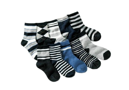 Colourful Baby World - Chaussette - Bébé (garçon) 0 à 24 mois Noir Noir - Noir - Bleu marine - noir - Large