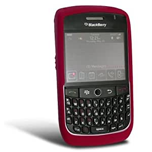 Simple Cell BlackBerry Soft Silicone Skin Case for BlackBerry Curve 8900 - Red