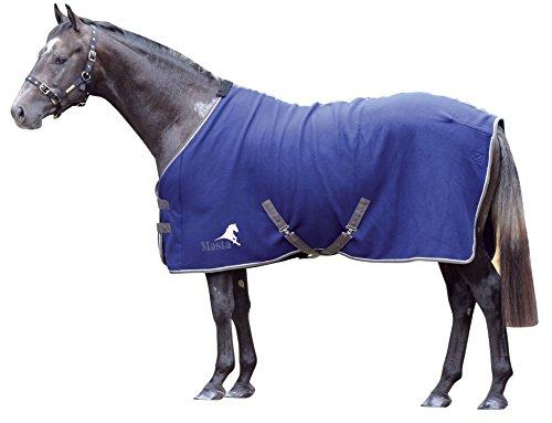 Masta Avante - Coperta in pile per cavallo, Blu (Blu navy), 180 cm