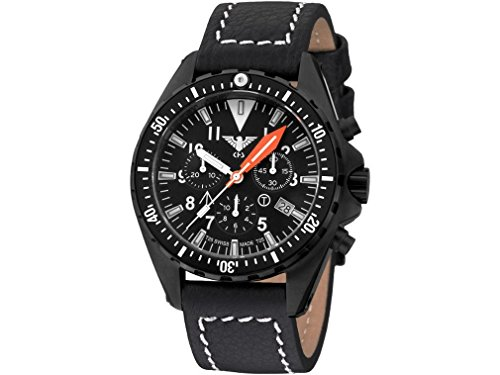 KHS Mens Watch MissionTimer 3 Field Chronograph KHS.MTAFC.LBB