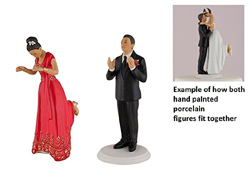 Wedding Star Romance Bride & Groom Cake Topper Figurine EAST INDIAN EAST INDIAN