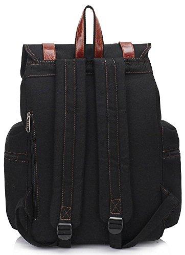LeahWard® Damen Mädchen Qualität Rucksack Rucksack Damen Mode-Berühmtheit Kunstleder Schule Taschen Handtasche CWS00443 CWS00443-Schwarz