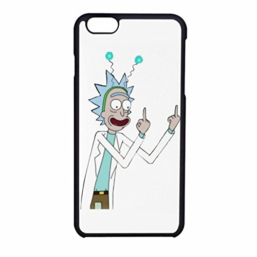 Rick and morty rick finger Iphone 6 - Iphone 6s Case funda white plastic