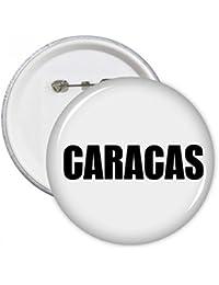 DIYthinker Regalo botón Caracas, Venezuela Nombre de la ciudad pernos redondos Placa Ropa decoración 5pcs