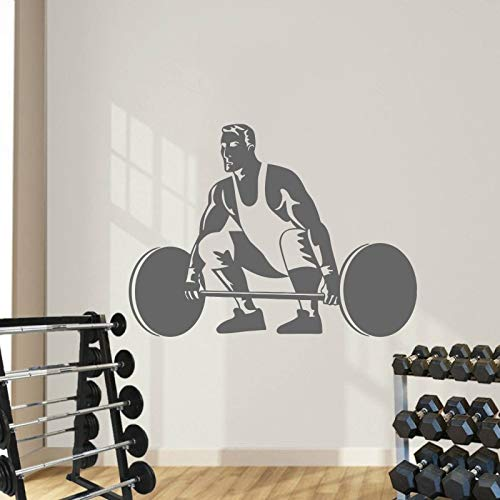 Zaosan Hot Gym Fitness Wandaufkleber Sport Männer Gewichtheben Kunst Wandaufkleber