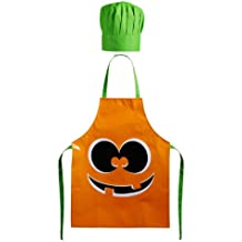 Premier Housewares 5100087 - Juego de delantal y gorro de cocinero infantil, diseño de calabaza de Halloween