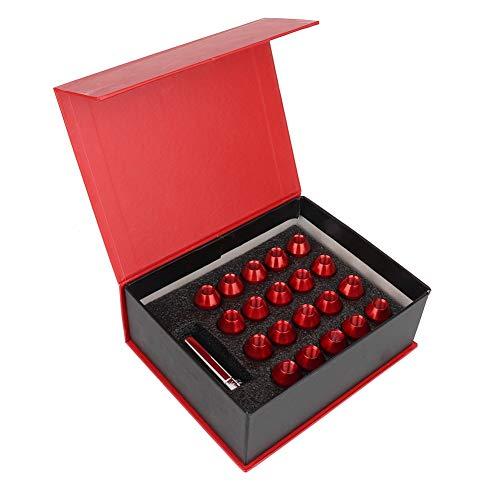 Gorgeri 20 Stücke M12 * 1,5 Universal Aluminiumlegierung Auto Radmuttern Kontermuttern 35mm Länge 25mm Durchmesser Perfekte Passform Hardware