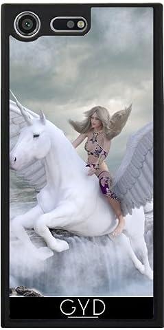 Coque Silicone pour Sony Xperia XZ Premium - Pegasus Fantastique Licorne by WonderfulDreamPicture