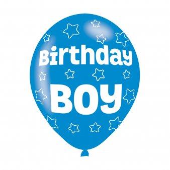 Amscan-990071111-inch cumpleaños Boy globos de látex
