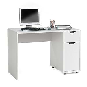 bureau multi rangements fox tiroir placard mdf gris blanc cuisine maison. Black Bedroom Furniture Sets. Home Design Ideas