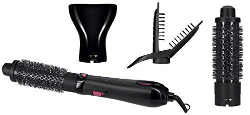Rowenta Hot Air Brush CF7812F0 - Cepillo de aire caliente (1200 W, 3 accesorios para alisar, cepillar y concentrar, golpe de aire frío, revestimiento Keratin & Shine)