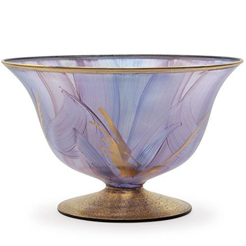 Angela neue Wiener Werkstaette Glasschale veredelt, Glas, Lila, 22 x 22 x 14 cm