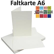 Schön DIN A6 Faltkarten Doppelkarten | Hochdoppelt | Natur Weiss | 25 Stück |  Einladungskarten