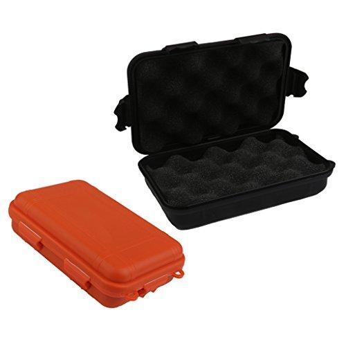 Sharplace 2 Stücke Stoßfest Box Wasserdichte Container Kunststoffbox Trocken Aufbewahrungsbox Mit Schaum für im Freien Überleben Dry Box -