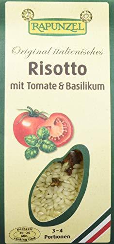 Rapunzel Risotto mit Tomaten und Basilikum, 4er Pack (4 x 250 g) - Bio